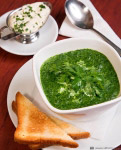 Green soup with spinach